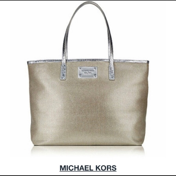 Michael Kors Chic Tote Silver NWOT